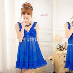 Đầm ngủ cao cấp 054 xanh coban