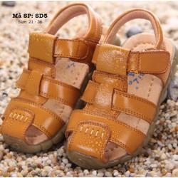Sandal màu da bò kiểu rọ cho bé 1 - 10 tuổi SD5