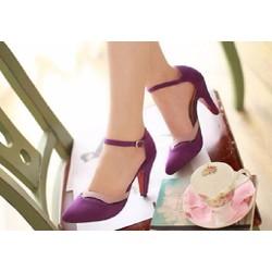 Giày cao gót quai cài hàng nhập
