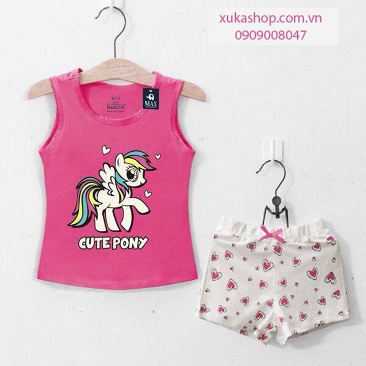 Bo 3 lo in hinh ngua Pony cute mau hong xinh xan XuKa
