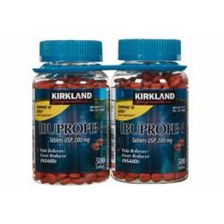 Thuốc Giảm Đau Hạ Sốt Ibuprofen 200mg hãng Kirkland chai 500 viên