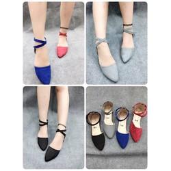 HÀNG  LOẠI I - Giày sandal quai chéo cổ chân