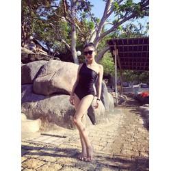 Bộ Bikini Thun Cao Cấp Hàn Quốc Lệch Vai Rosabkn85