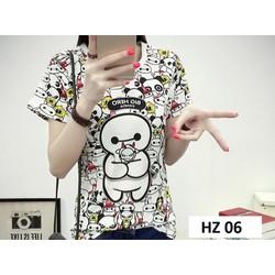 Áo phông hè nữ - hàng nhập - chất đẹp HZ 06