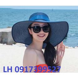 Nón mũ rộng vành cói sang trọng Hàn Quốc mới chống tia UV  K78216