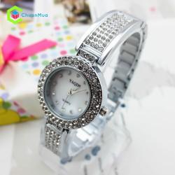 Đồng hồ Nữ Yaqin đính hạt mặt dây DHA037-D0110 - Bạc