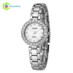 Đồng hồ Nữ Yaqin đính hạt mặt DHA276-D0112 - Bạc