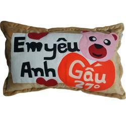 Gối ngủ Handmade - Em yêu Anh Gấu