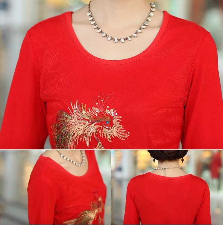 DM106 - HÀNG NHẬP ĐÀI LOAN - Đầm Polyester thêu chim phụng - M~3XL 10