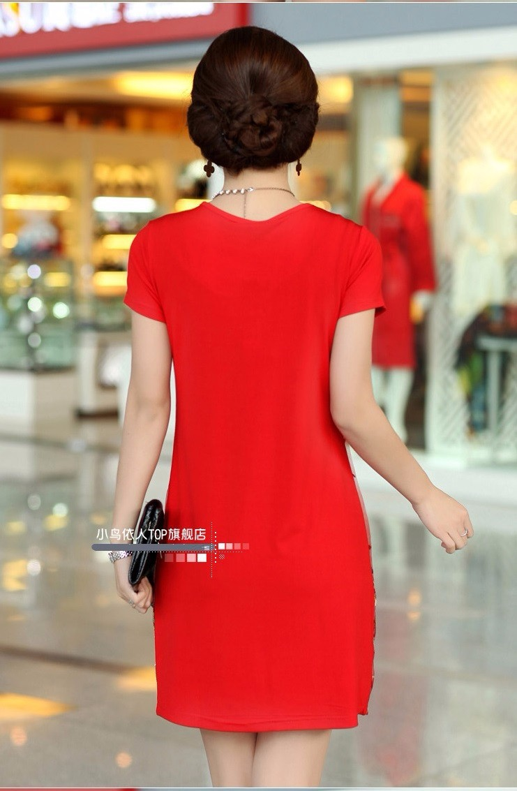 DM106 - HÀNG NHẬP ĐÀI LOAN - Đầm Polyester thêu chim phụng - M~3XL 13
