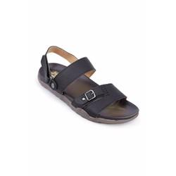 Dép sandal nam Huy Hoàng quai hậu màu đen TX7174
