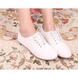 Giày oxford đế bệt trắng
