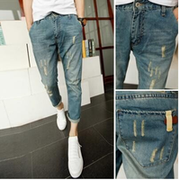 Quần jeans Harem nam thời trang, thiết kế mài rách phong cách nam tính