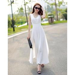 BT980311 Đầm trắng sang trọng, trẻ trung, quyến rũ