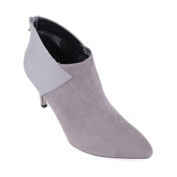 Boot cao gót ankle thời trang 559 màu xám