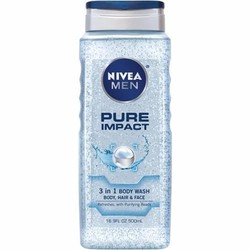 Dầu tắm toàn thân Nivea Men Pure Impact 500ml