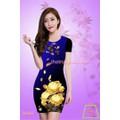 ĐẦM 3D BODY HOA HỒNG VÀNG DL401