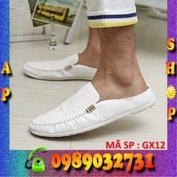 Giày lười nam da thật chính hãng Hàn Quốc - GX12