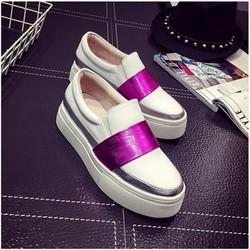 Giày slip on nữ Hàn Quốc phối màu Cực Xinh - BM217W - Doni86