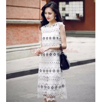 Đầm ren hoa đen Minosa_7706