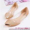 Giày búp bê công sở đính kim tuyến vàng sang trọng thời trang GBB85