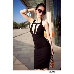 Đầm body khoét ngực - d9980