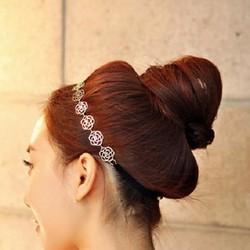 Băng đô nữ họa tiết hoa hồng, phong cách Hàn Quốc cổ điển, ngọt ngào