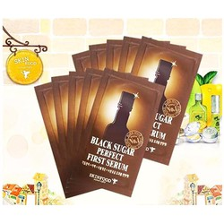 COMBO 10 gói SKIN FOOD Black Sugar Perfect First Serum dạng gói