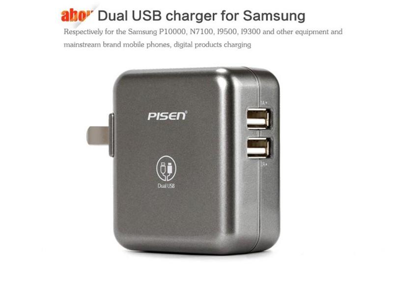 Cóc Sạc Pisen 2 Cỗng USB 2.4A Cho Ipad.Iphone 2
