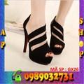 Giày nữ cao gót 7cm da lộn cao cấp - GX26