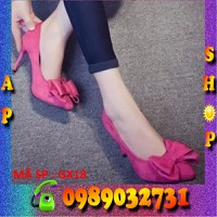 Giày cao gót phối nơ dễ thương - GX18