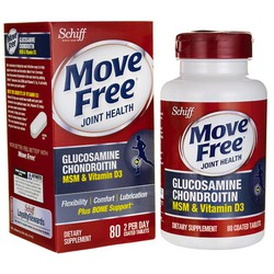 Schiff Move Free Glucosamine Chondroitin MSM Plus D3 80 viên