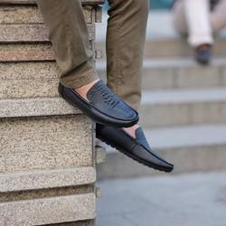 Giày da lười vân cá sấu sang trọng, lịch lãm