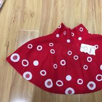 Váy thun ngắn, đỏ, dệt nguyên chiếc