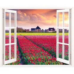 Tranh dán tường cửa sổ 3D VT0180