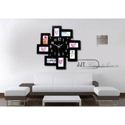 Đồng hồ khung hình treo tường thiết kế ấn tượng 1215 Trắng