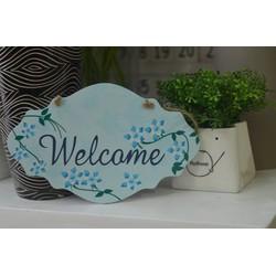 Kệ gỗ Xin mời Welcome 2