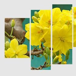 Tranh nghệ thuật hoa mai vàng