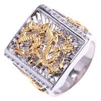 Nhẫn bạc mạ vàng 2 màu Thao Linh Jewelry