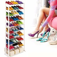 Xả hàng kệ giày dép 10 tầng giá cực rẻ