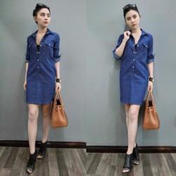 Đầm jean form suông