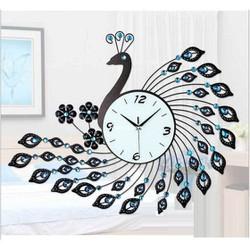 Đồng hồ trang trí chim công xanh ngọc M02