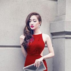 Đầm đẹp - Đầm Dây Chéo Hở Lưng Quyến Rũ