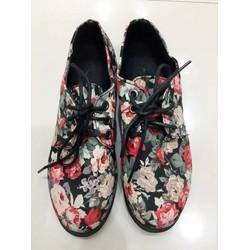 Giày bata đế bằng họa tiết hoa cực chất