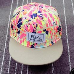 Nón hip-hop chữ Peeps thời trang K-pop