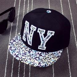 Nón hip-hop chữ NY thời trang K-pop