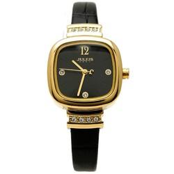 Đồng hồ nữ dây da chính hãng JU1067 Đen - Thương Hiệu