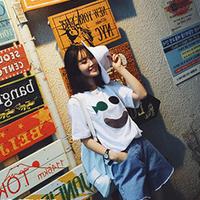 áo thun nữ thái lan hình mặt cười - AT20