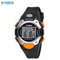 Đồng hồ thể thao trẻ em SYNOKE 99319 màu đen viền cam cá tính