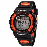 Đồng hồ thể thao trẻ em SYNOKE 99269 màu cam Size vừa